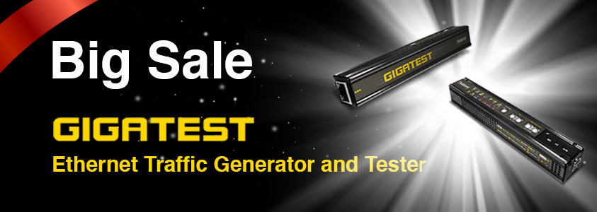 GIGATEST Ethernet Traffic Generator and Tester